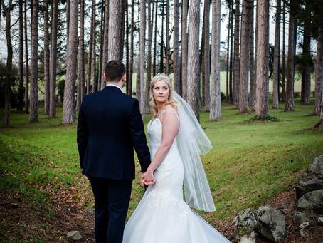 Winter wedding at Fanhams Hall Hotel | Taylor & Adam