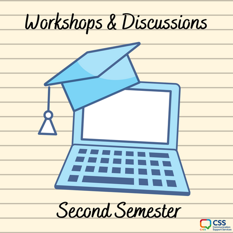 Workshop & Discussion Group Lineup - Sem 2 2020-21