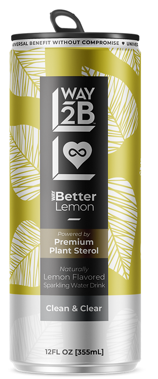 WAY Better Sparkling Lemon - Powered by Plant Sterol