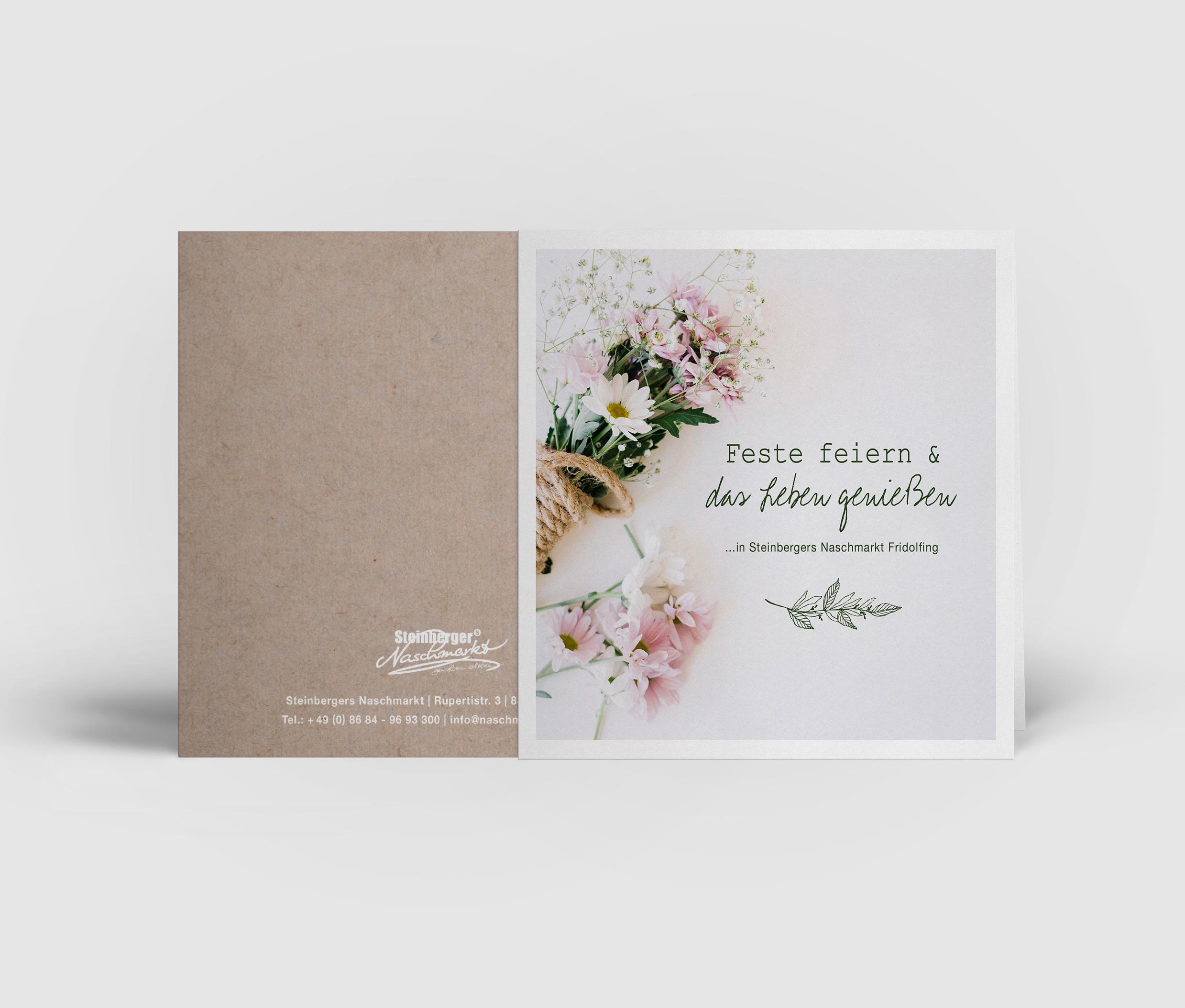 Folder für die Hochzeitsmesse