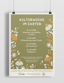 Kultur im Garten Plakat
