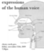 Expressions of the Human Voice November