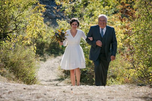MARIAGE A&S - nature provençal - arrivée