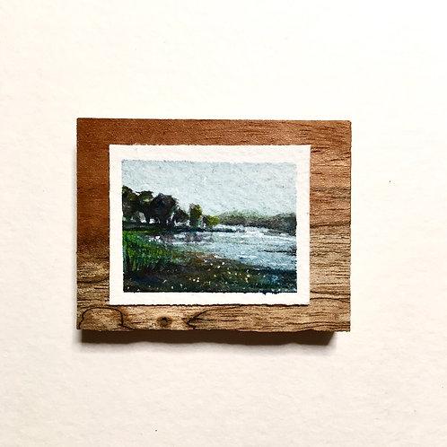 June / original tiny painting (unframed)