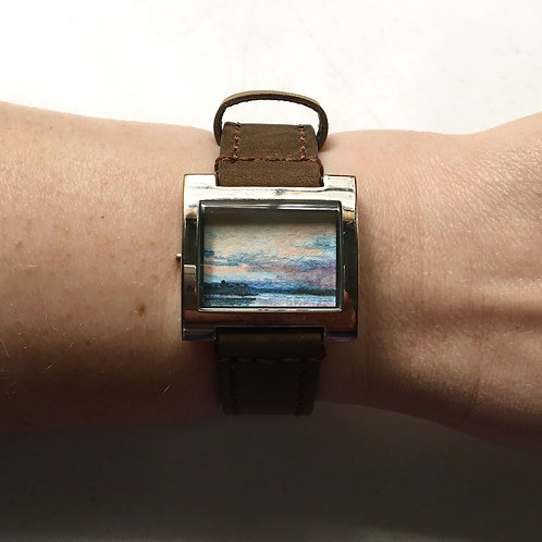 Once / timeless watch with original tiny painting