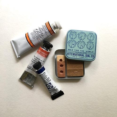 Blue Time Tiny Art Kit