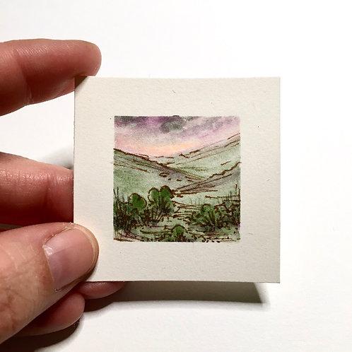 Gentleness / original tiny landscape painting (unframed)