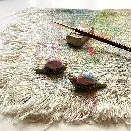 Slow Sunsets / tiny snail sculptures