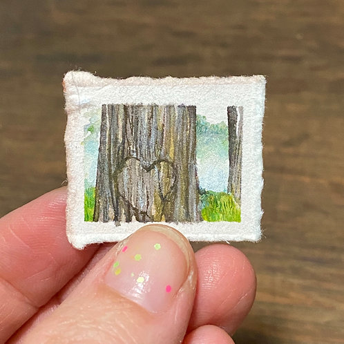 Holding / tiny watercolor painting (unframed)