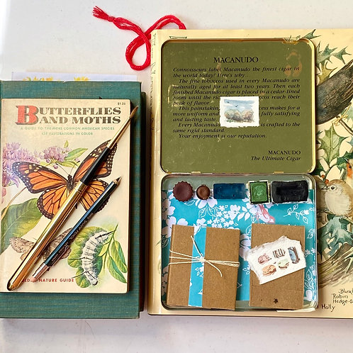 Aged tiny art kit + painting
