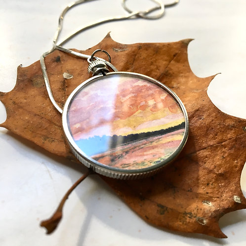 Stunning Framed Pendant + Necklace