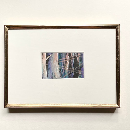 Light Within / tiny landscape (framed)