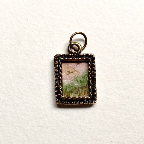 Pink Skies / Tiny Passage series II / tiny art pendant