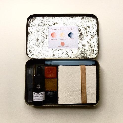 Cream-colored Ginger Tiny Art Kit