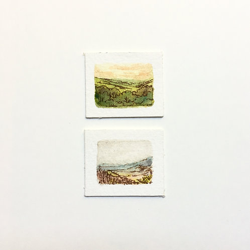 Hills... / tiny study (unframed)