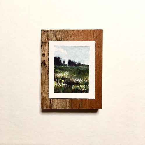 August / original tiny painting (unframed)