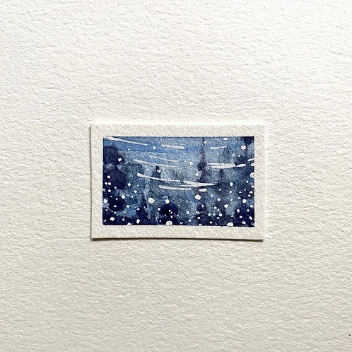 Reflections / tiny painting (unframed)