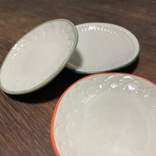 tiny Palette / color rimmed saucer