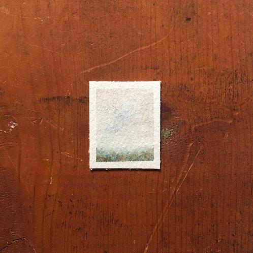 Rainy Day / tiny landscape painting (unframed)