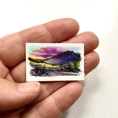 Bold Mountains / tiny study (unframed)