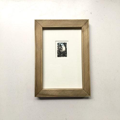 Dulcet Moon / original tiny art framed