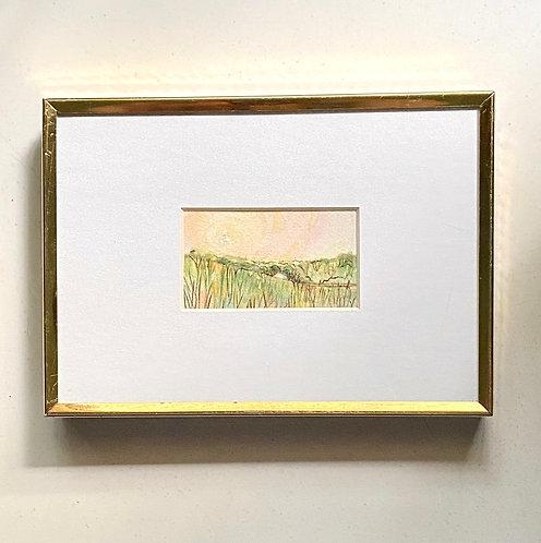 Shelter / tiny landscape (framed)