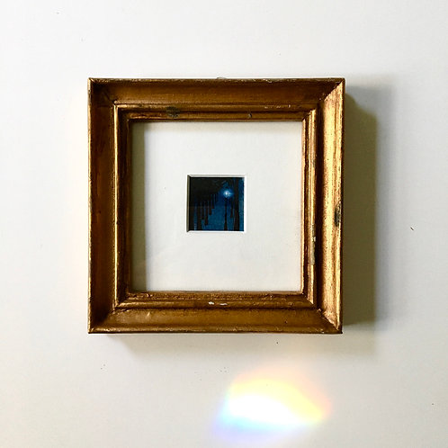 Light or Almost Narnia / original tiny landscape painting (framed)