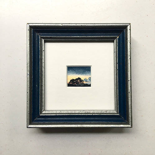 Lone / original tiny art framed