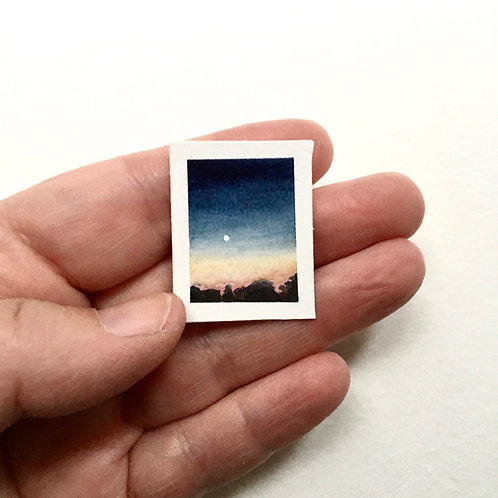 November / original tiny landscape painting (unframed)