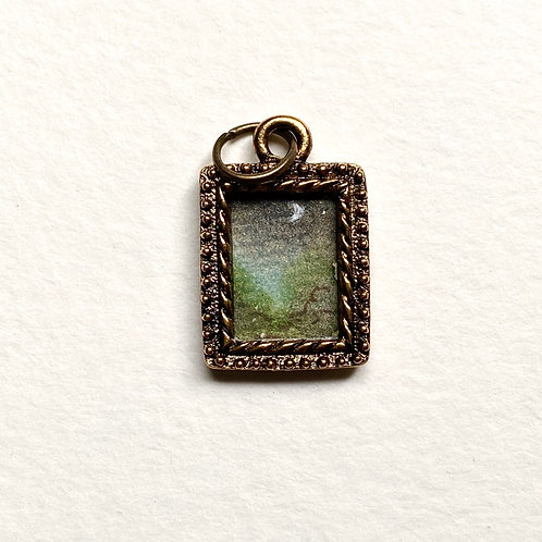 Moon Light / Tiny Passage series II / tiny art pendant