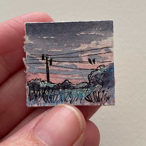 Together / tiny landscape painting (unframed)