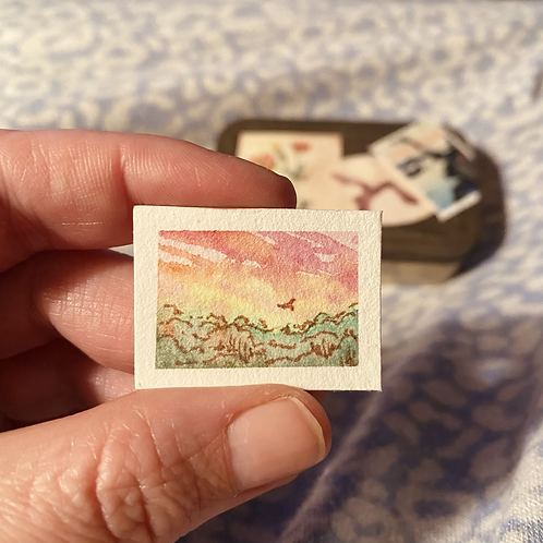 Wild Anemone tiny fancy philately art kit