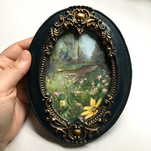Lux / original tiny art framed