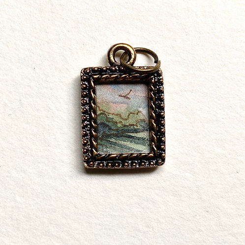 Soft Light  / Tiny Passage series II / tiny art pendant