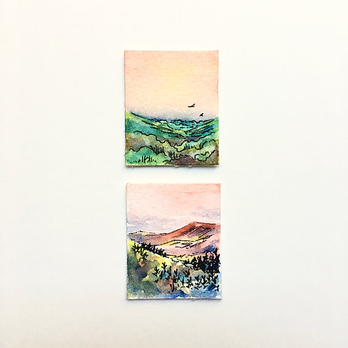 Pink Skies... / tiny study (unframed)