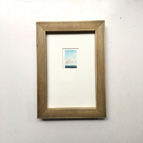 Dulcet Sky / original tiny art framed