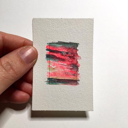Electric Skies / tiny study (unframed)