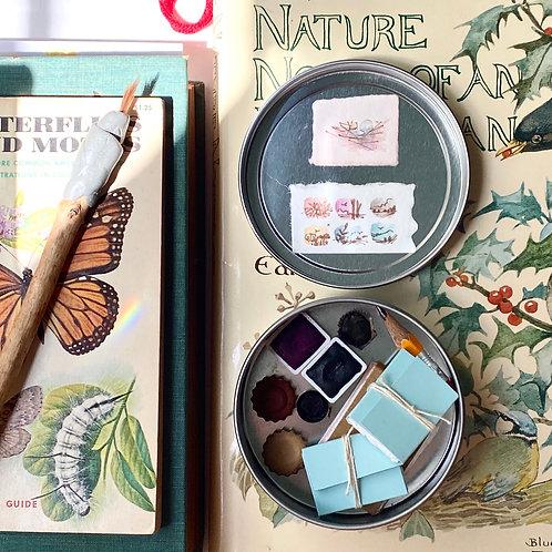 Nesting tiny art kit + painting