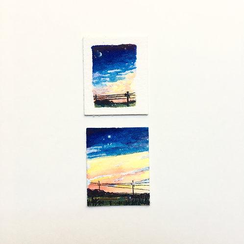Vivid Skies... / tiny study (unframed)
