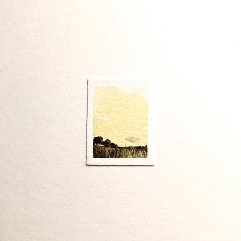 Tenderness / tiny landscape painting (unframed)