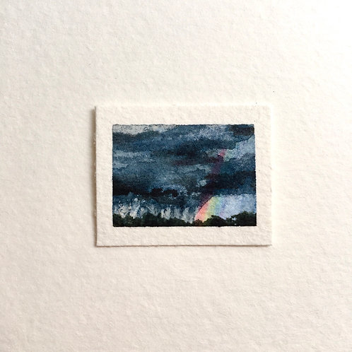 Wholesome / tiny landscape painting (unframed)