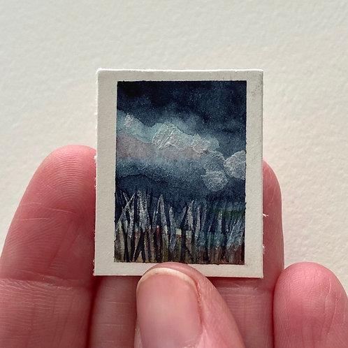 Sakura Cloud / tiny landscape (unframed)
