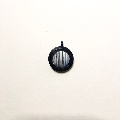 Full Moon + Orion / tiny double art locket pendant