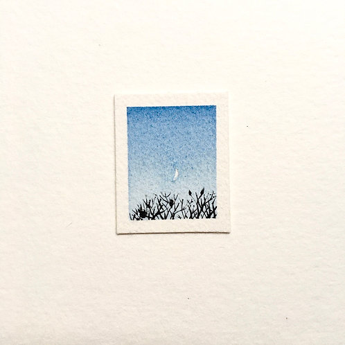 Tranquility / tiny landscape painting (unframed)