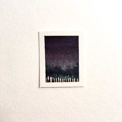 Dawn / tiny landscape painting (unframed)