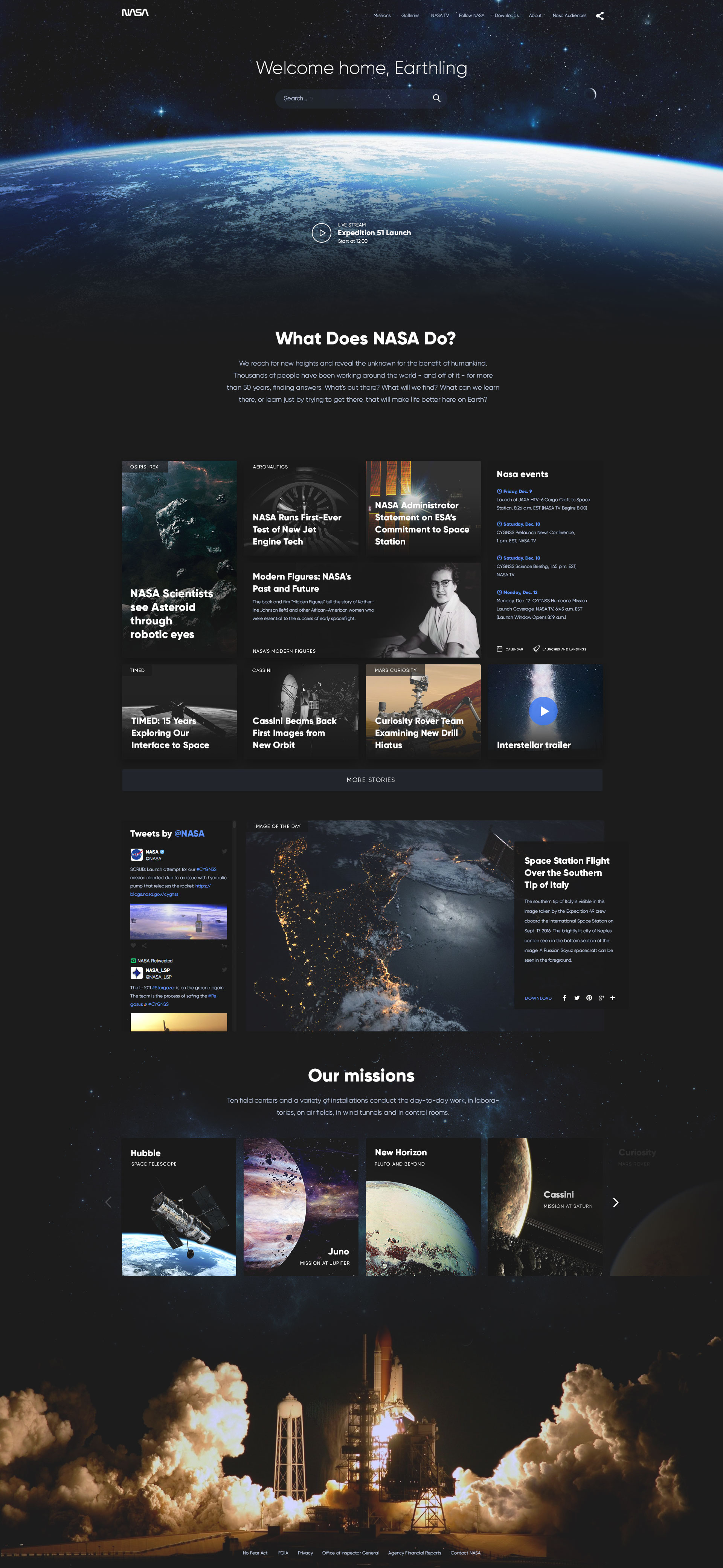 Nasa Website Redesign Concept