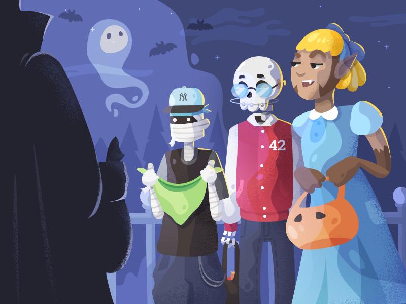 Illustration for Fireart Studio Halloween Dribbble shot