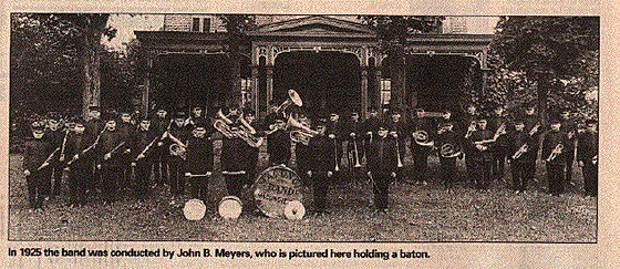 John B. Meyers in 1925 with the Macungie Band