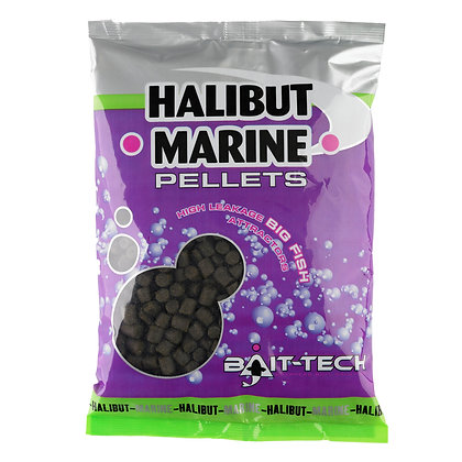 Bait Tech Halibut Marine Pellets 4mm