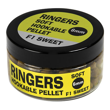 Ringers F1 Sweet Hookable Soft Pellets 6mm